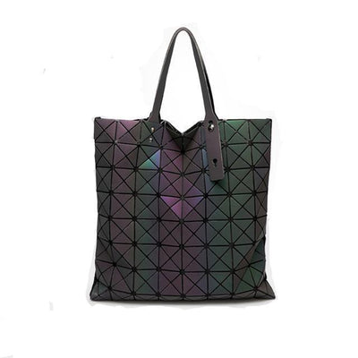 EQcreative Plus geometric holographic handbag