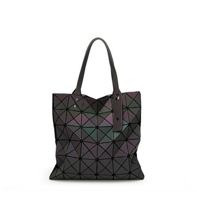 EQcreative Plus geometric reflective handbag