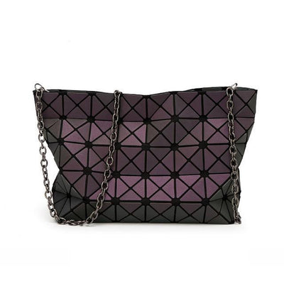 EQcreative Plus Geometric reflective luminous handbag and purses