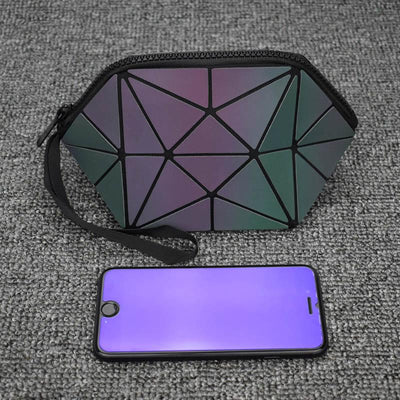 EQcreative Plus Geometric reflective luminous cosmetic bags