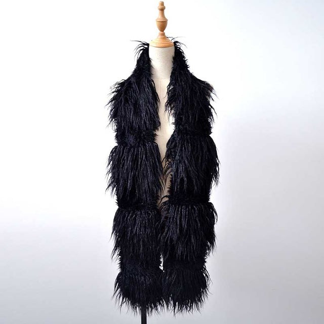 """Bella Philosophy"" Faux Lamb Fur Fashion Scarf"