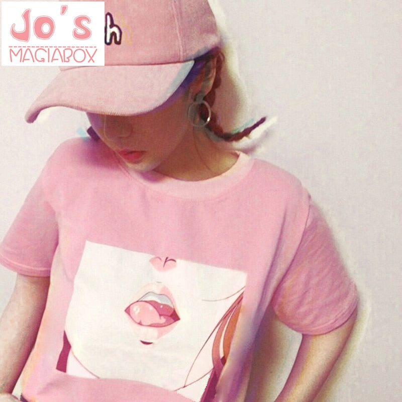 "Jo's Magiabox ""Anime Blossom"" Womens K-pop Inspired Tee"