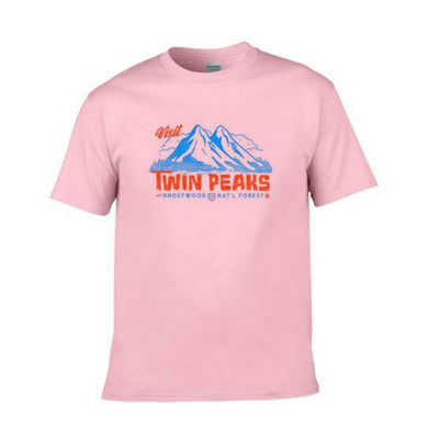 "90s Style ""Twin Peaks"" Womens Casual Graphic Tee"