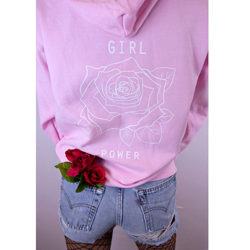 """Girl Power"" Rose Hoodie"