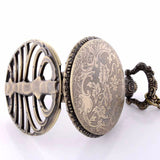 Skeleton Rib Cage Quartz Pocket Watch Pendant