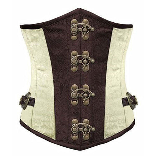 Lace up Steel Boned Brocade Underbust Corset