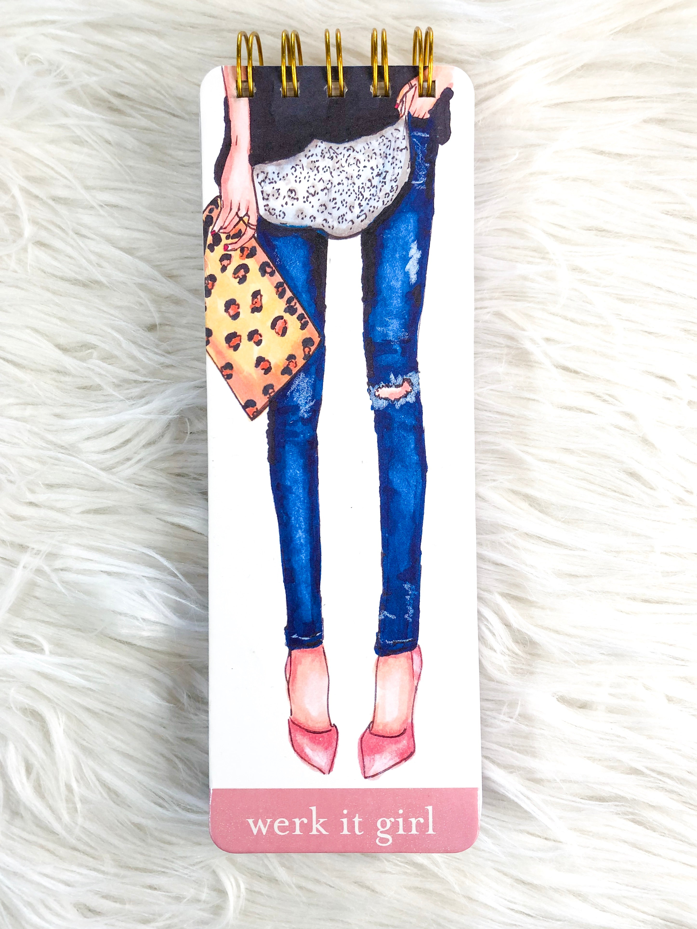 Werk it Girl skinny notepad