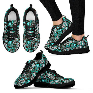 SUGAR SKULL Sneakers Teal