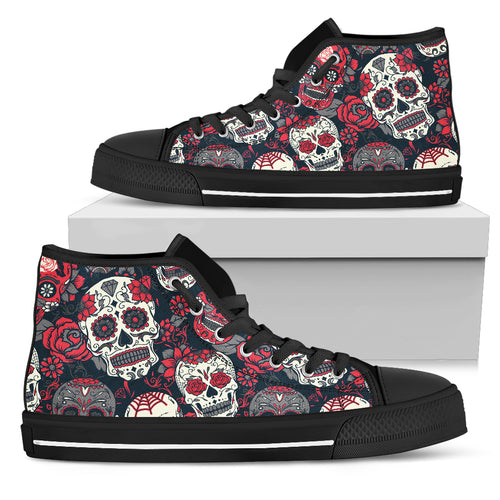 SUGAR SKULL Hightop Canvas Shoes