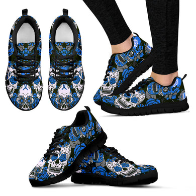 SUGAR SKULL Sneakers Blue