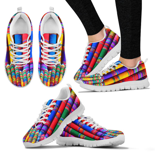 MULTI-COLORED FABRIC WOMEN SNEAKERS