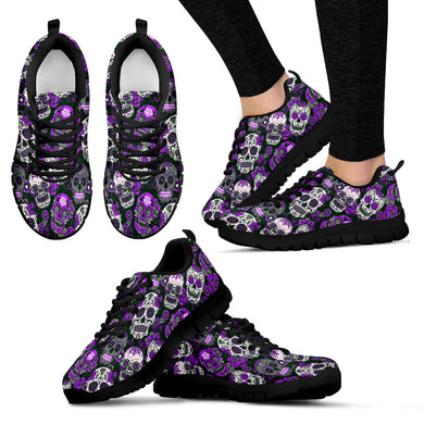 SUGAR SKULL SNEAKERS Purple