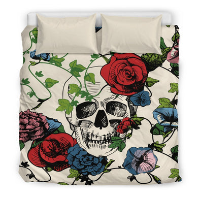 Red Rose Sugar Skull Duvet Covers