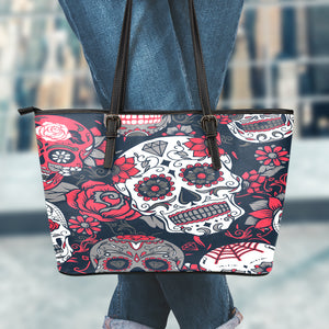 Sugar Skull BR Large Leather Tote