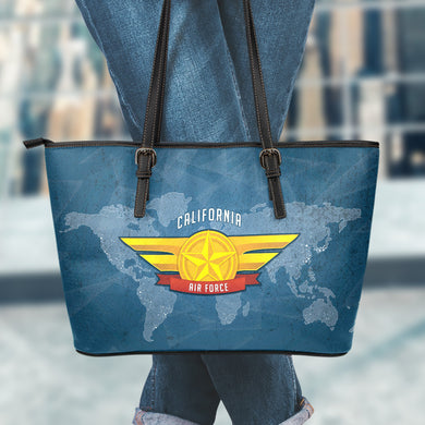 CALIFORNIA AIR FORCE Small Leather Tote Bag
