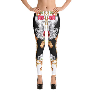 Baroque Floral Leggings v2