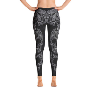 Sugar Skull Leggings BlackWhite v2