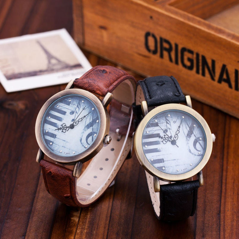 mechanical indicator gents swiss phase power leather watch reserve moon strap watches made