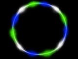 Blue Green white LED hula hoop