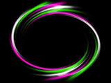 Pink Green white LED hula hoop