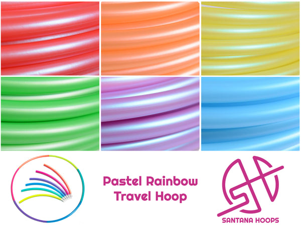 Pastel Rainbow Sectional Polypro Travel Hula Hoop