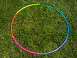 UV Rainbow Sectional Polypro Travel Hula Hoop