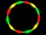 Rasta Red Yellow Green LED hula hoop