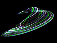 Green Splash LED Hula Hoop