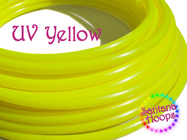 "UV Yellow 5/8"" Polypro Hula Hoop"