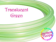 Translucent Green Polypro Hula Hoop