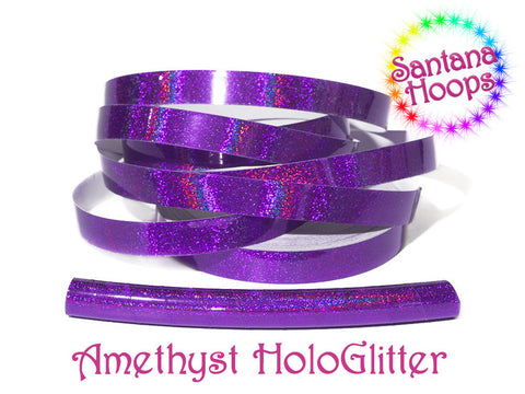 Amethyst Holographic Glitter Taped performance Hula Hoop