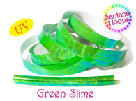 Green Slime Translucent Color Shifting Taped Performance Hula Hoop