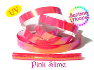 Pink Slime Translucent Color Shifting Taped Performance Hula Hoop