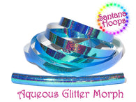 Aqueous Color Shifting Holographic GlitterTaped Performance Hula Hoop