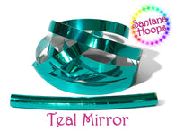 Teal Mirror Taped performance Hula Hoop