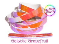 Galactic Grapefruit Color shifting Taped Performance Hula Hoop