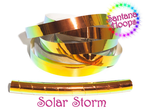 Solar Storm Color shifting Morph Taped Performance Hula Hoop