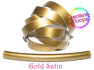 Gold Satin Fully Taped Performance Hula Hoop