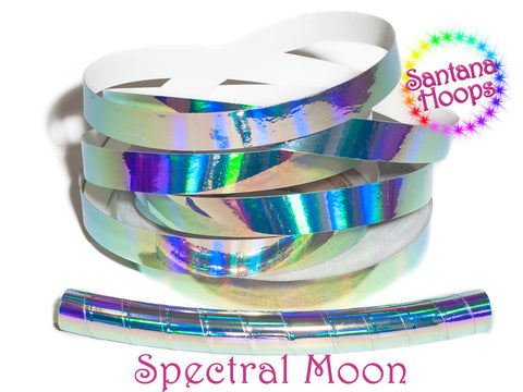 Spectral Moon Plasma Rainbow Taped Performance Hula Hoop