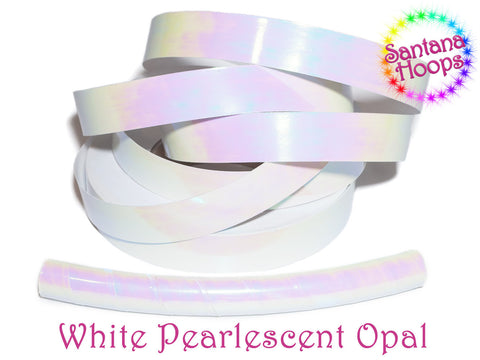 White Pearlescent Morph Taped Performance Hula Hoop
