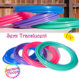 UV Green Calcite Polypro Hula Hoop semi Translucent