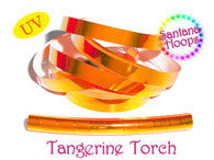 Tangerine  Torch Color shifting Morph Taped Performance Hula Hoop
