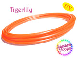 UV Tigerlily Metallic Orange Polypro Hula Hoop