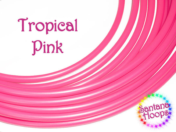 Tropical Pink UV HDPE Hula Hoop