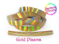 Gold Plasma Rainbow Taped Performance Hula Hoop