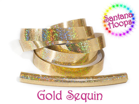 Gold Sequins Fully Taped Performance Hula Hoop