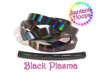 Black Plasma Rainbow Taped Performance Hula Hoop