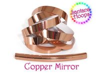 Metallic Copper Mirror Taped performance Hula Hoop