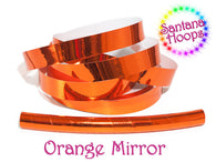 Orange Mirror Taped Performance Hula Hoop