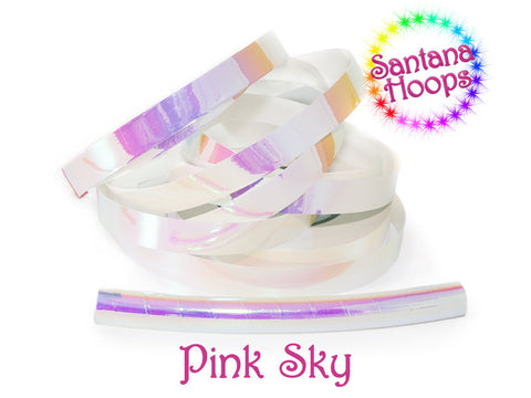 Pink Sky Color shifting Morph Taped Performance Hula Hoop